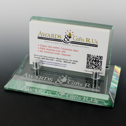 4 34 x 2 78 x 2 38 inches glass business card holder colourmoves