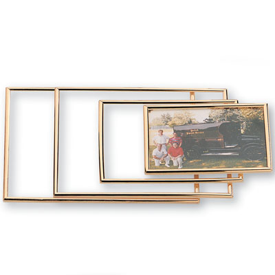 5-1/2 x 7-1/2 Inch Gold Acrylic Plexiglass Frame-Holds 5 x 7 Photo