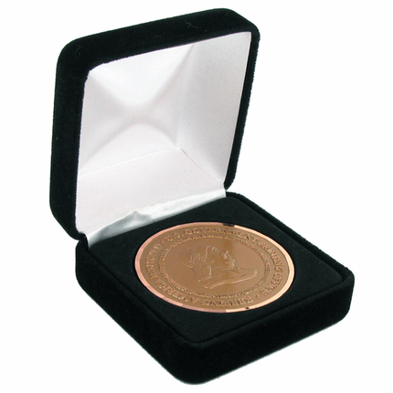2-5/8 x 2-5/8 Inch Black Velour Box-Holds 2 Inch Medal