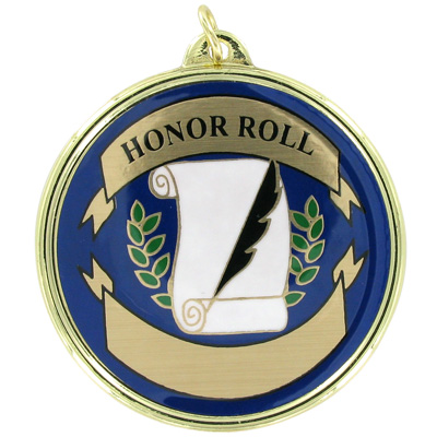 "2-1/4 Inch Medal Frame with 2 Inch ""Honor Roll"" Mylar Insert Label"