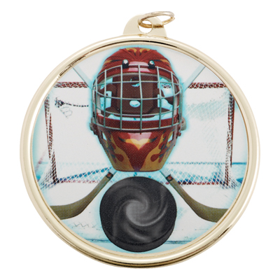 2-1/4 Inch Medal Frame with 2 Inch Ice Hockey Mylar Insert Label