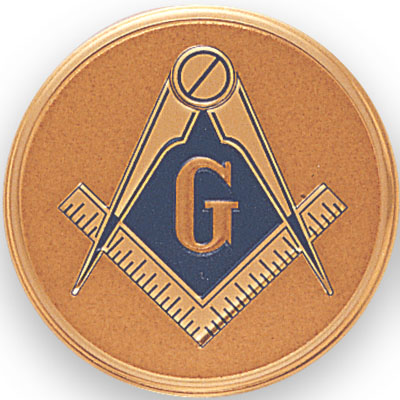 2 Inch Litho Embossed Masonic Insignia Medallion Insert Disc