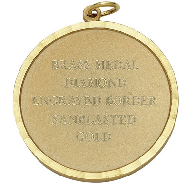 1-1/4 Inch Plain and Scalloped Border Medal