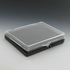 3-1/2 x 2-9/16 x 1/2 Inch Black, Plastic Hinged Box with Clear Top
