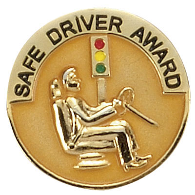 1 Inch Safety Driver Award Enameled Lapel Pin