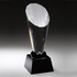 Spotlight Optical Crystal Tower Award on Black Crystal Base