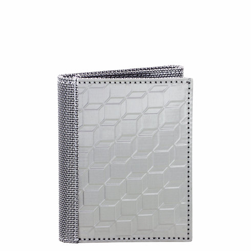 3D Box Design Stainless Steel Trifold Wallet