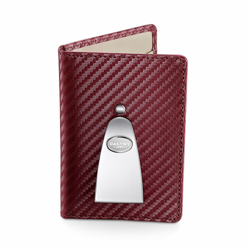 Continental Credit Card Wallet & Money Clip in Burgundy by Dalvey
