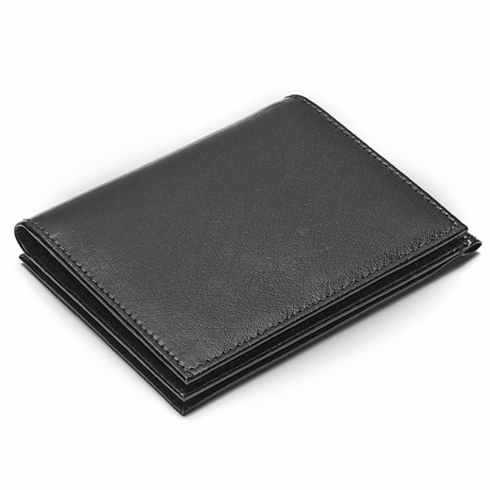 Dual Opening Leather Credit Card Holder with Money Clip