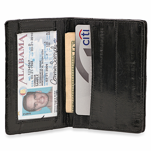Eel skin businesscredit card holder with id window colourmoves
