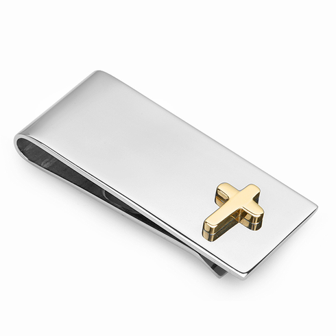 Faith Collection Money Clip with Gold Cross