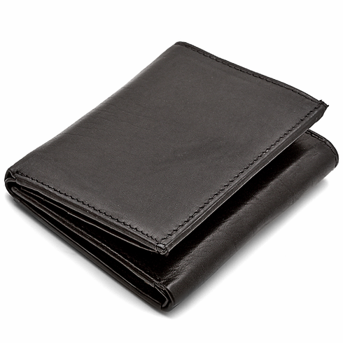 men s trifold wallet with double id windows