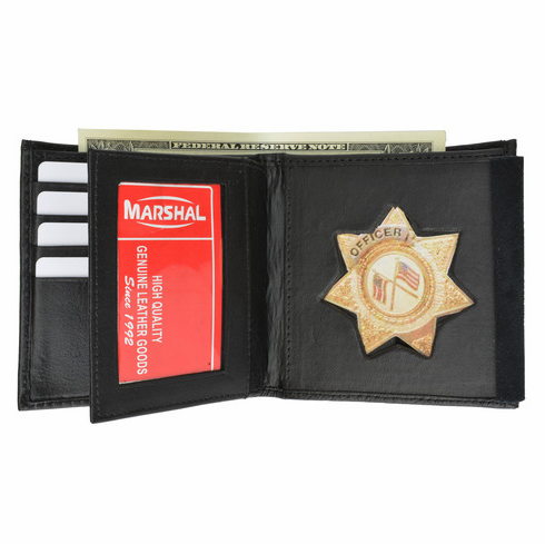 Policeman's Star Badge Bifold Wallet