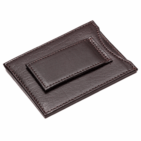Slimline Leather Wallet with Magnetic Money Clip