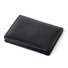 Business card cases snap closure leather card case wallet colourmoves
