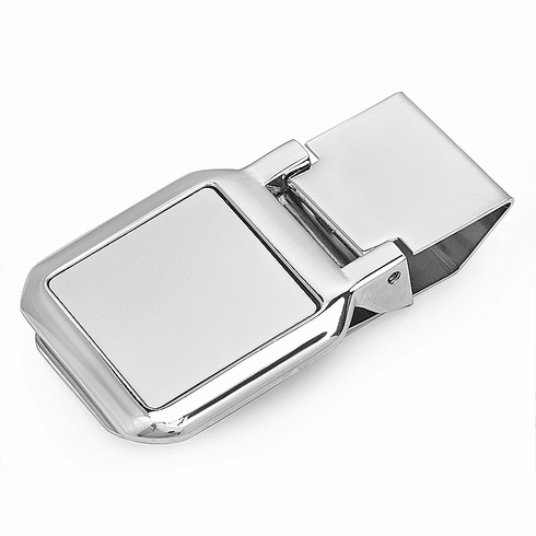 Square Face Hinged Money Clip