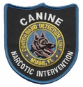 Miami Florida Narcotic Intervention Contraband Detection Unit Patch