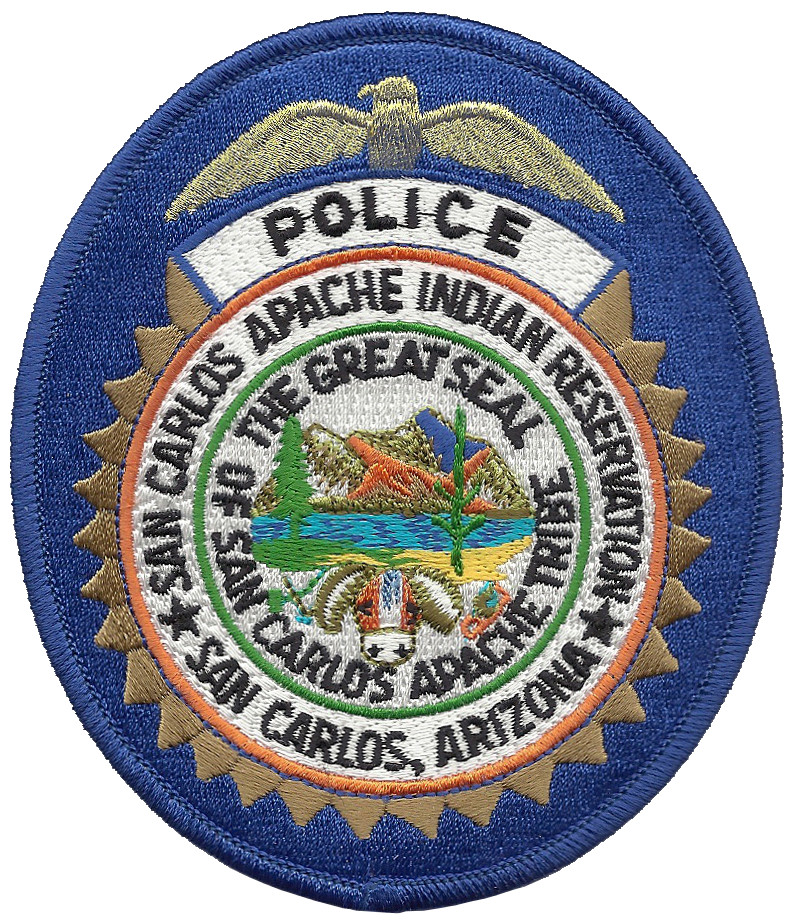 San Carlos Apache Indian Reservation Police Arizona Tribal Patch