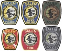 Set of 6 Different Salem Police Massachusetts Patches