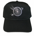 Wings and Wheel Subdued Motorcycle Police Patch Ball Cap