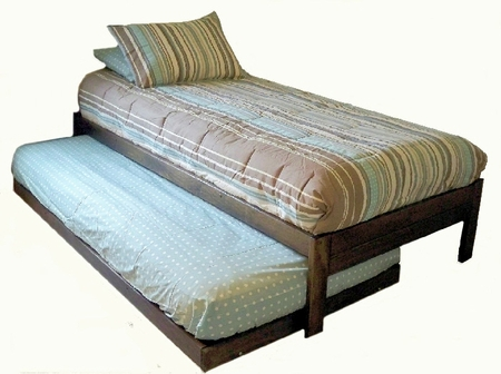 Full Size Santa Cruz Trundle Bed Set (Rustic Walnut)