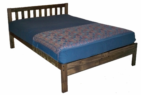 Queen Size Santa Barbara Platform Bed (Rustic Walnut)