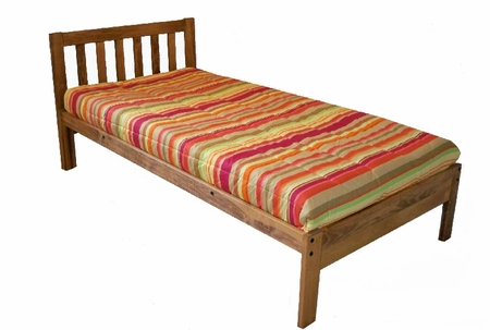 Twin Size Santa Barbara Bed (Toasted Pecan)