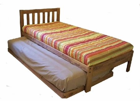 XL Twin Santa Barbara Bed & Twin Trundle (Toasted Pecan)