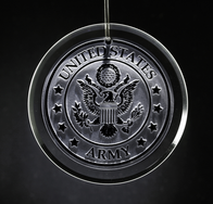 Army Glass Ornament