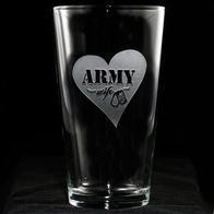 Army Wife Pint Pub Glass