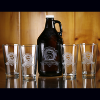 Beer Growler, Pint Pub Glass Set