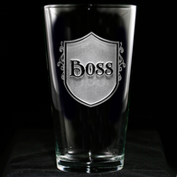 Boss Engraved Pub Pint Beer Glasses
