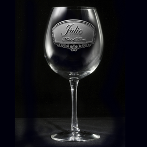 Bridesmaid Gift, Red Wine Glass