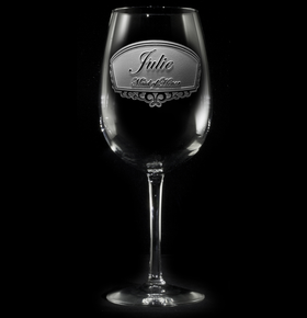 Bridesmaid, Maid of Honor Personalized Bridal Party Wine Glass