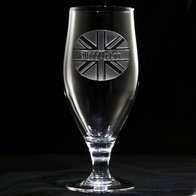 British Flag Engraved Water Goblet