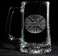 British Flag Monogram Beer Mug
