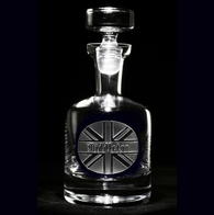 British Flag Personalized Scotch Decanter