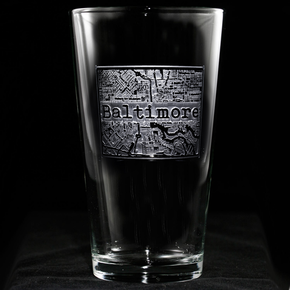 City Map Hometown Glass