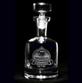 Corporate Logo Engraved Scotch, Whiskey Decanter
