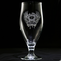 Corporate Logo Goblet Water Glasses