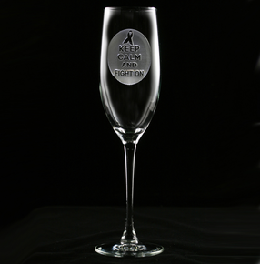 Custom Logo Champagne Glass