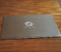 Custom Logo Slate Serving Tray