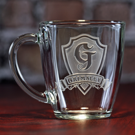 Monogram Glass Coffee Mug