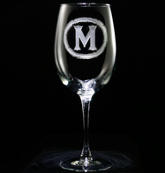 Custom Wine Glasses with Monogram
