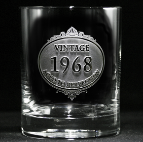 Customized Vintage Year Whiskey Glass