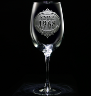 Customized Vintage Year Wine Glass
