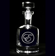 Edwardian Script Monogram Engraved Decanter
