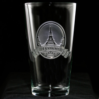 Eiffel Tower Pub Glass