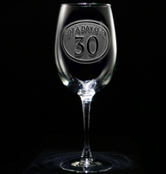 Engraved 30th Birthday Wine Glass