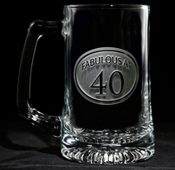 Engraved 40th Birthday Beer mug